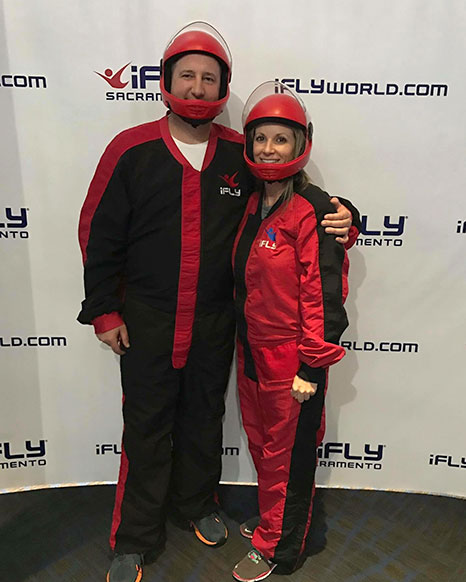 Having fun at the iFly event